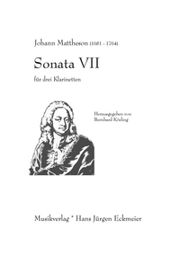 Mattheson, Johann: Sonata VII Partitur and parts