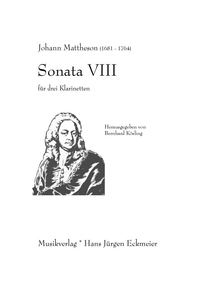 Mattheson, Johann: Sonata VIII, Partitur and parts