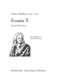 Mattheson, Johann: Sonata X, Partitur and parts