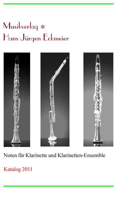 "Catalogue ""Clarinet 2011"""